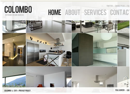 Colombo Interior Flash Website Template