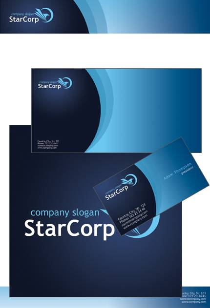 Star Corp PowerPoint Template