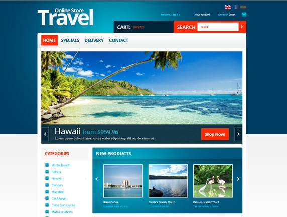 Travel Store PrestaShop Theme