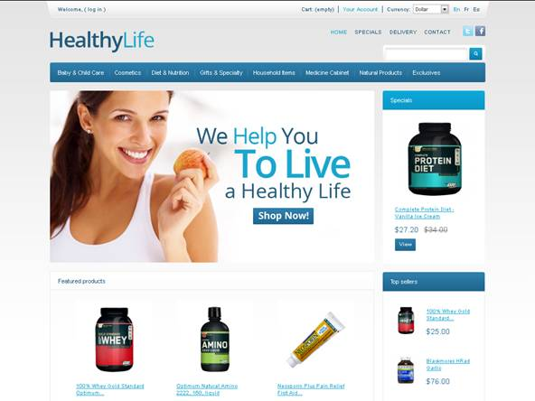 Healthy Life PrestaShop Theme