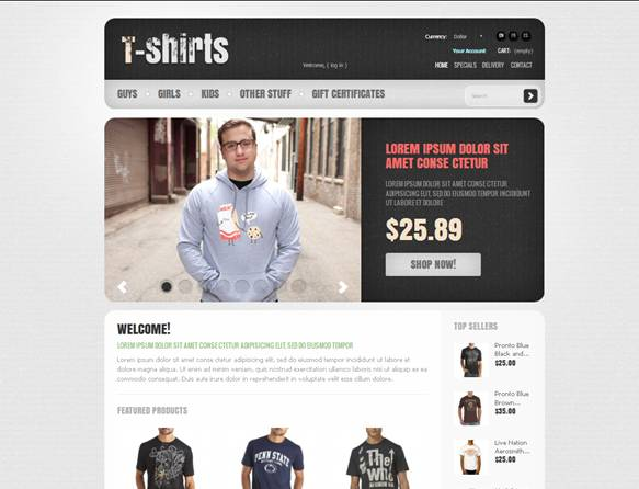 T-shirts Clothes PrestaShop Theme