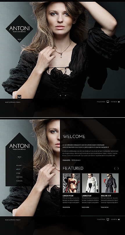 Antoni Fashion Flash Website Template
