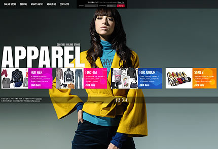 Apparel Clothes VirtueMart Template