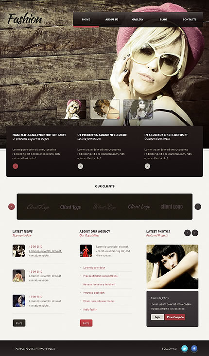 Fashion Models WordPress Theme