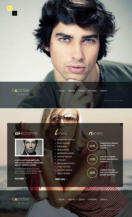 Expose Personal Website Template