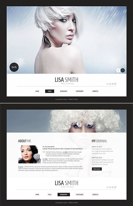 Lisa Smith Moto CMS HTML Template