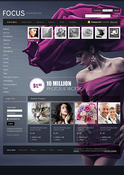 Focus Photo VirtueMart Template