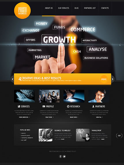 Business WordPress Template Design With Image Slider