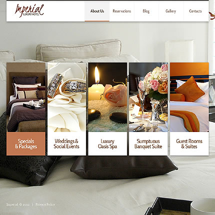 Hotel Joomla Website Template with Drop Down Menus, Blog & Photo Gallery