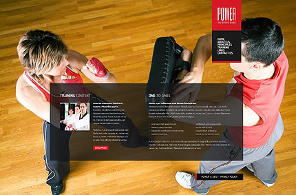 Power Winner Website Template