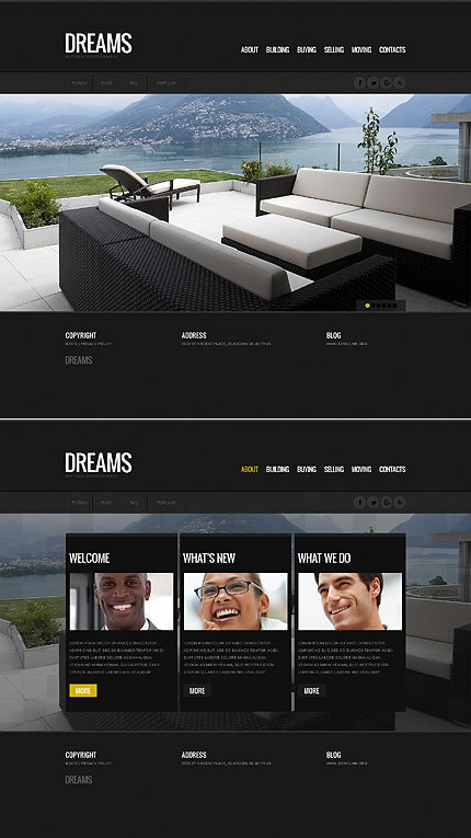 Real Estate HTML5 Single Page Website Design