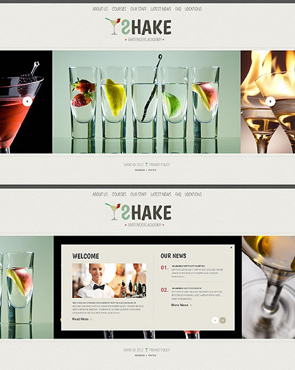 Shake Bartenders Website Template