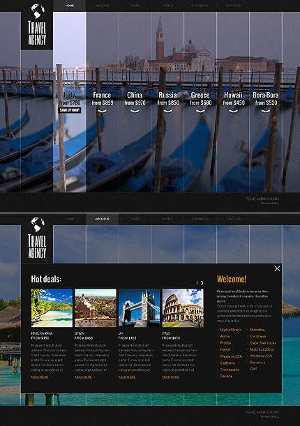 Travel World Website Template