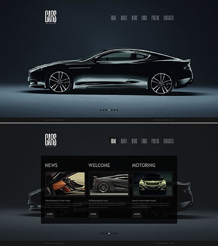 Single Page HTML5 Cars Website Design
