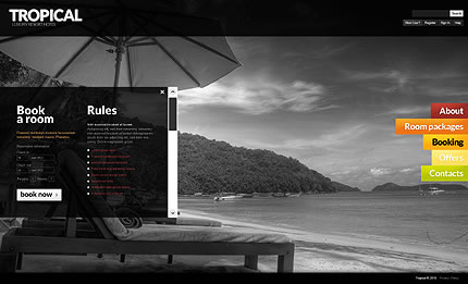 Tropical Hotel Website Template