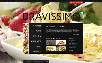 Italian Restaurant Single Page HTML5 Website Design