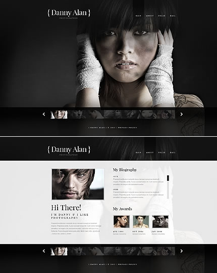 Photographer Portfolio Flash & XML Website Design