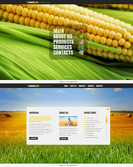 Bounty Land Website Template
