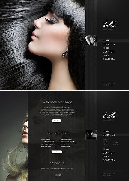 Belle Image Website Template