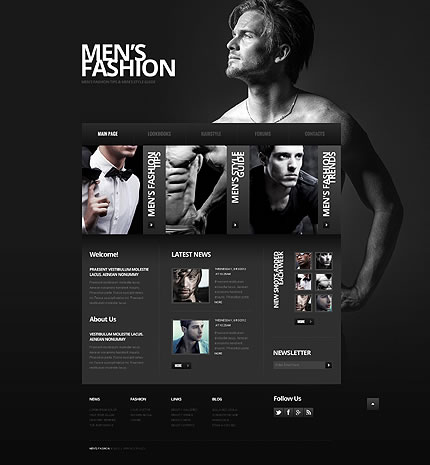 Men's Fashion Website Template