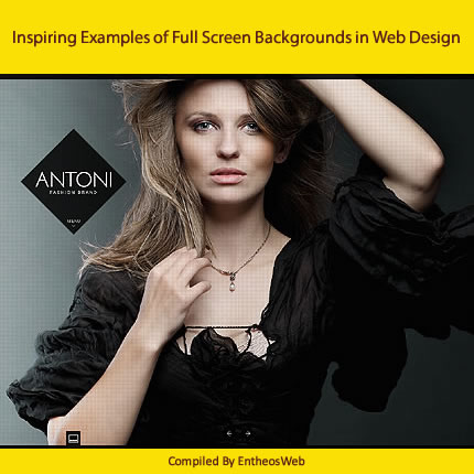 Inspiring Examples of Full Screen Backgrounds in Web Design