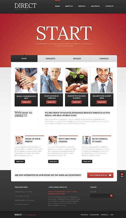 Business HTML5 Website Template With Intro Animation & Drop Down Menus