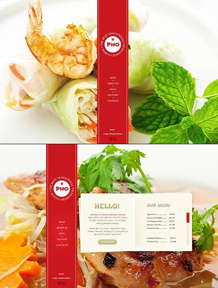 Pho Vietnamese Website Template