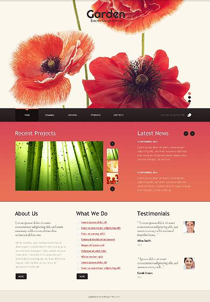 Garden Exterior Website Template