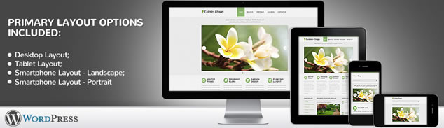 Exterior Design Responsive WordPress Theme With Homepage Slideshow, Blog, Drop Down Menus & Portfolio Galleries