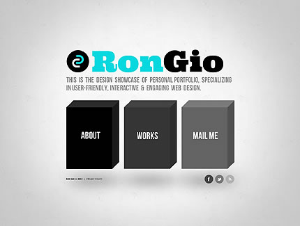 Ron Gio Website Template