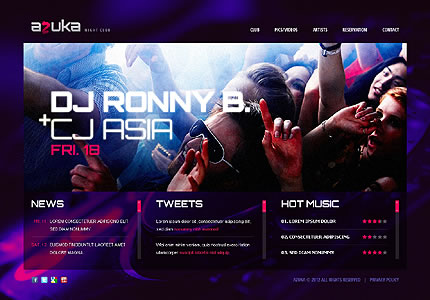 Azuka Night Website Template