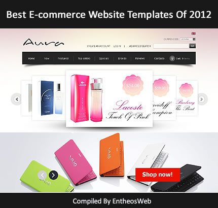 best e commerce website templates of 2012 entheos. Black Bedroom Furniture Sets. Home Design Ideas