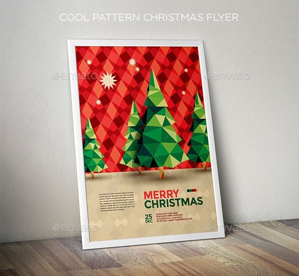 Cool Pattern Christmas Flyer