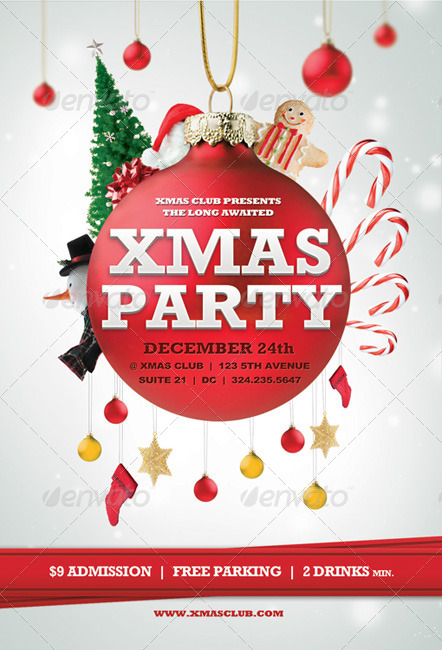 Beautiful Christmas Posters And Flyer Design Templates | Entheos