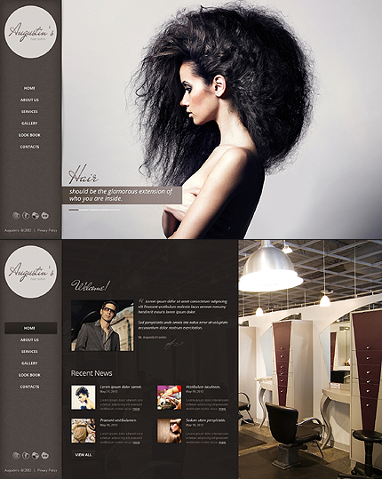 Augustin Hair Website Template