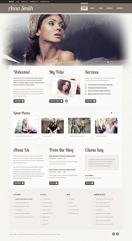 Ann Smith WordPress Theme