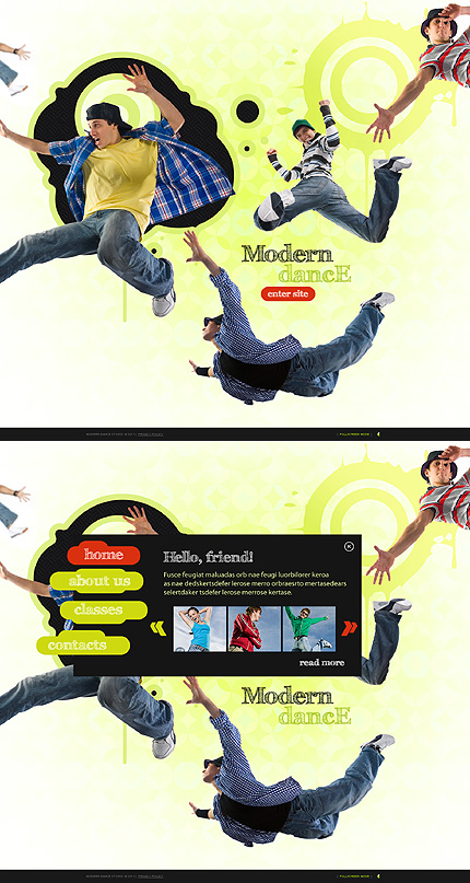 Modern Dance Flash Website Template