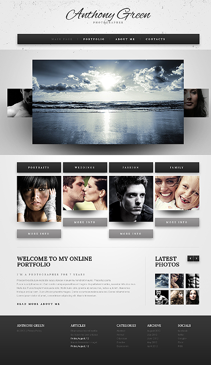Anthony Green Website Template