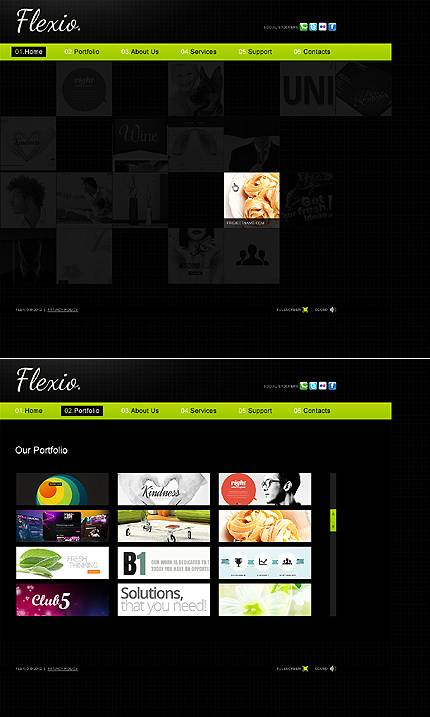 Flexio Design Flash Website Template