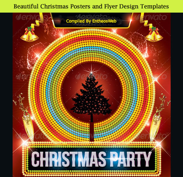 Beautiful Christmas Posters and Flyer Design Templates