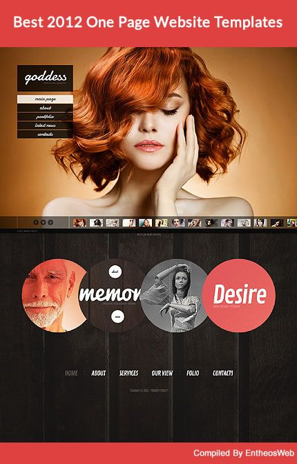 Best 2012 One Page Website Templates