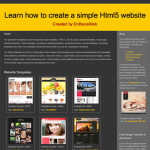Learn how to create a simple Html5 website