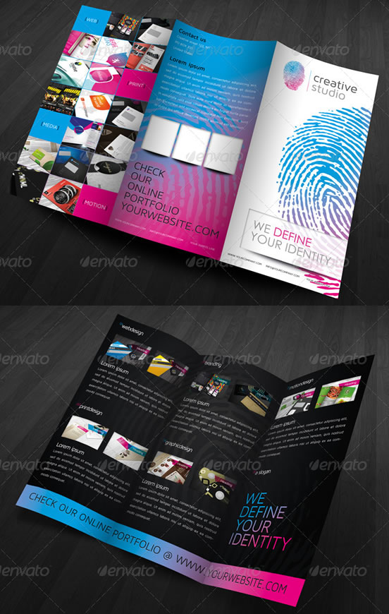 RW Modern Fingerprint Agency Trifold Brochure