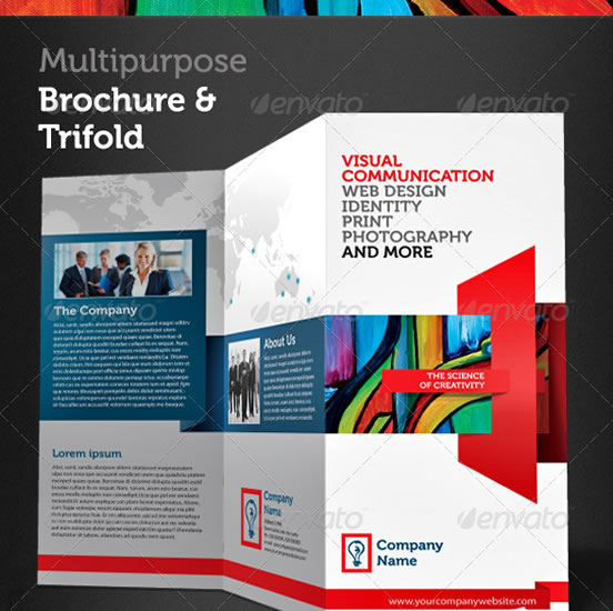 Creative Trifold Brochure Design Templates Entheos - Tri fold brochure design templates