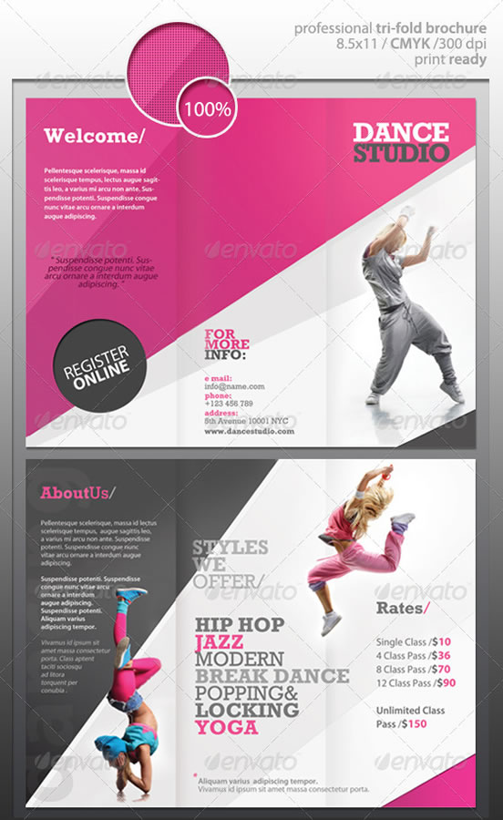 Creative TriFold Brochure Design Templates  Entheos