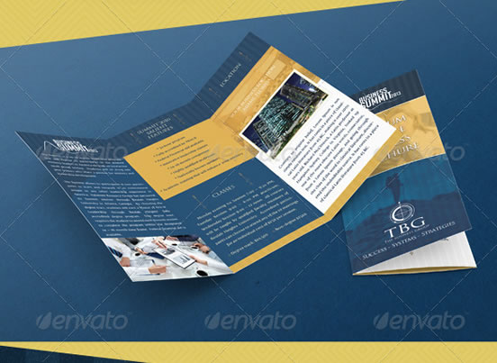 Creative Trifold Brochure Design Templates Entheos - Brochure templates psd