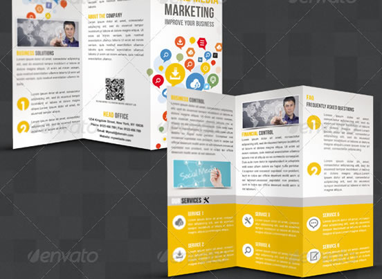Social Media Marketing Tri fold Brochure