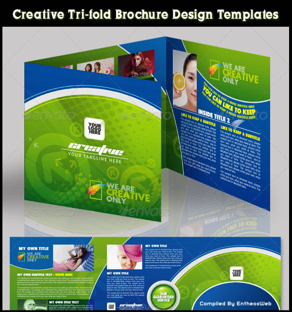 Creative tri fold brochure design templates entheos for Creative brochure templates free