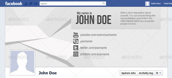 Sleek Facebook Timeline Cover