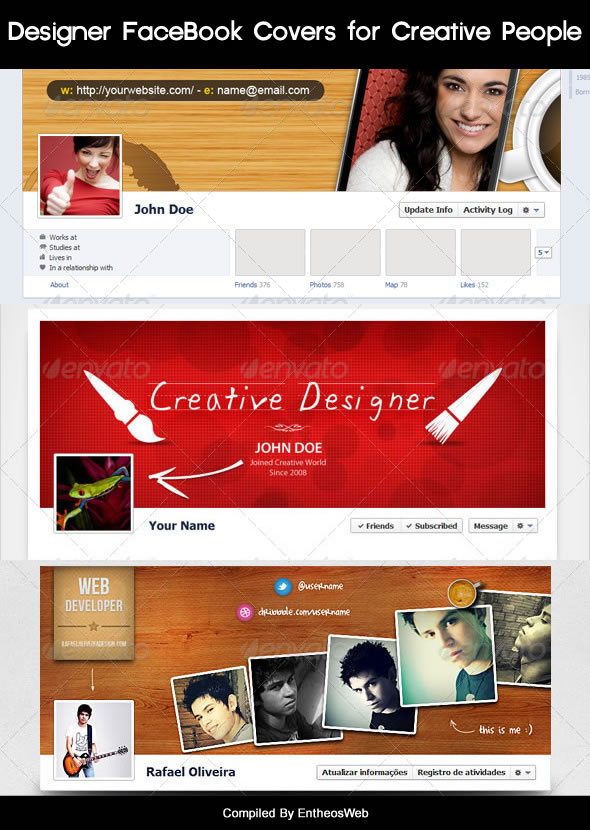 Designer FaceBook Covers for Creative People